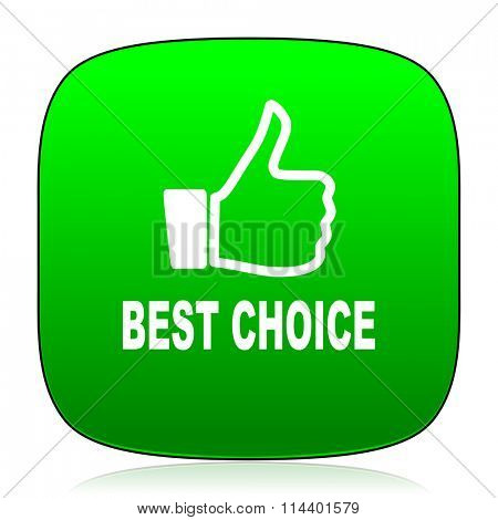 best choice green icon for web and mobile app