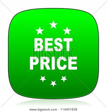 best price green icon for web and mobile app