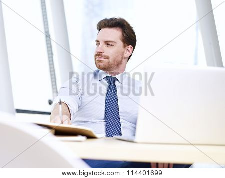 Business Person Working In Office