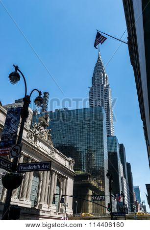 New York City Grand Central Railway and Chrysler Building