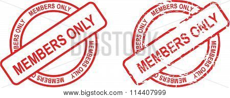 members only stamp sticker circle