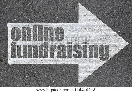 Arrow On Asphalt Road Written Word Online Fundraising
