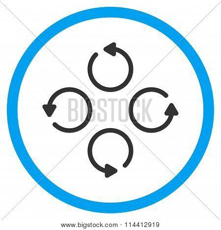 Rotation Flat Icon
