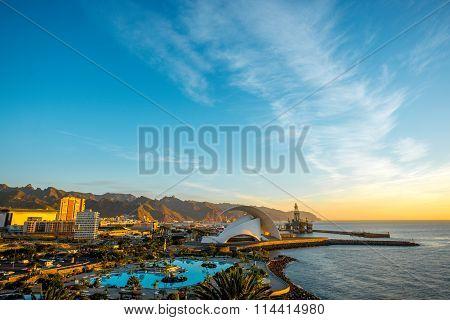 Santa Cruz cityscape view