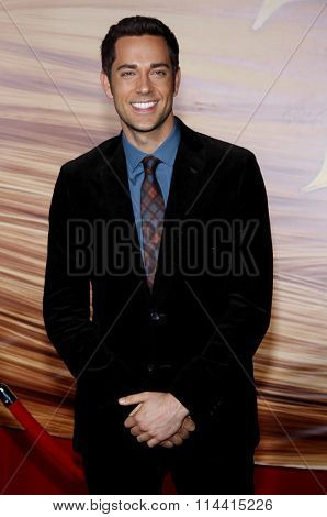 HOLLYWOOD, CALIFORNIA - November 14, 2010. Zachary Levi at the Los Angeles premiere of