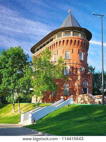 Old water tower in Vladimir, Russia.