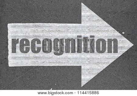 Arrow On Asphalt Road Written Word Recognition