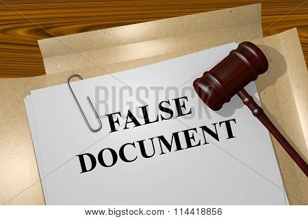 False Document Concept