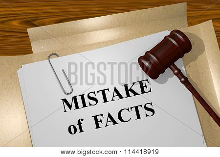 Mistake Of Facts Concept
