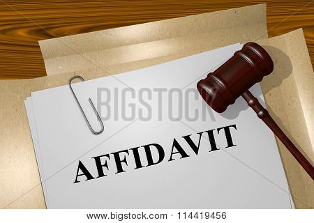 Affidavit Concept