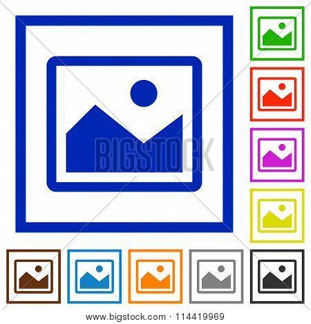 Image Framed Flat Icons