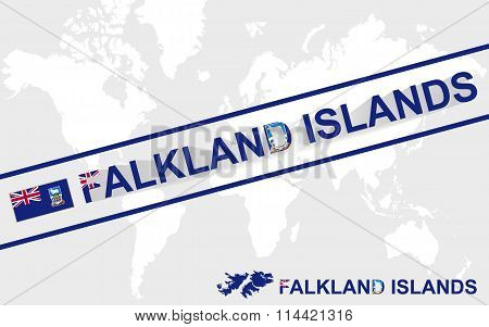 Falkland Islands Map Flag And Text Illustration