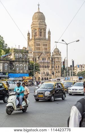 Municipal Corporation Building At Mumbai, India