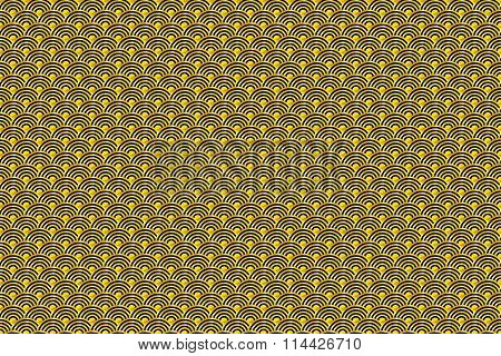 Seamless Chinese Pattern Of Lucky Symbols Of Ruyi And Lu. Meaning Wealth, Auspiciousness And Good Lu