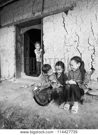 Smile Children from ethnic minorities