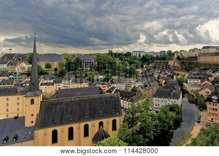Ancient town in central Luxembourg, dominated by the partly ruin