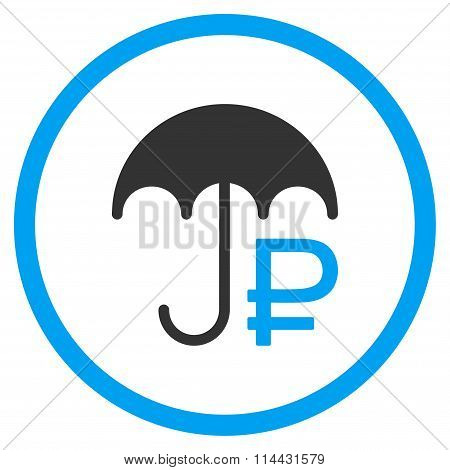 Rouble Umbrella Icon
