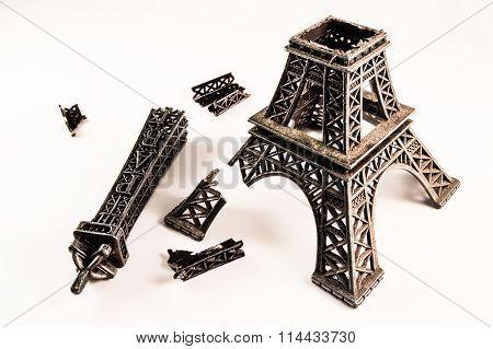 Broken Eiffel tower