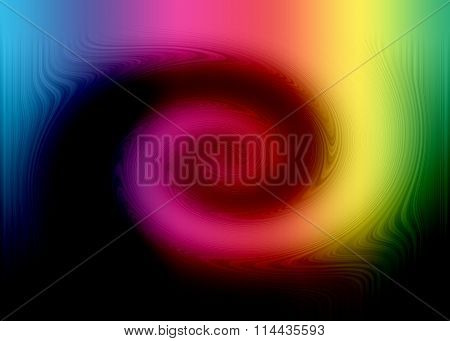 Abstract Rainbow Multicolor Background With Twirl
