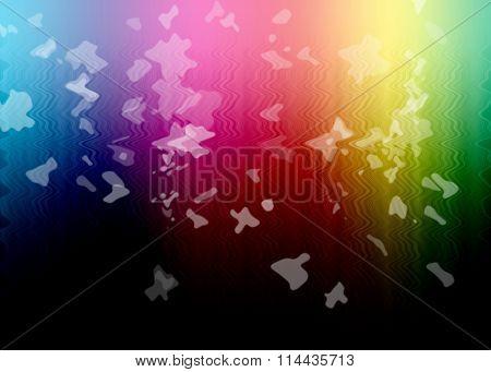 Rainbow Multicolor Background With White Splashes