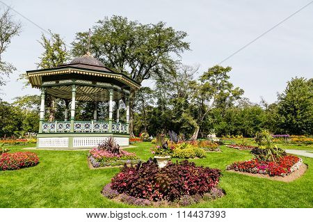 Flower Plantings By Gazebo