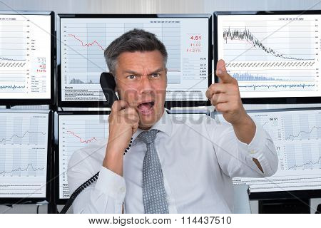 Angry Stock Trader Shouting