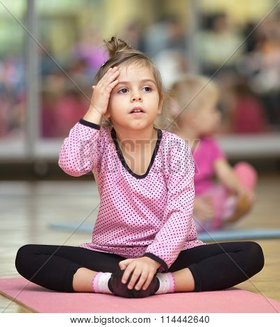 Little Girl On Mat