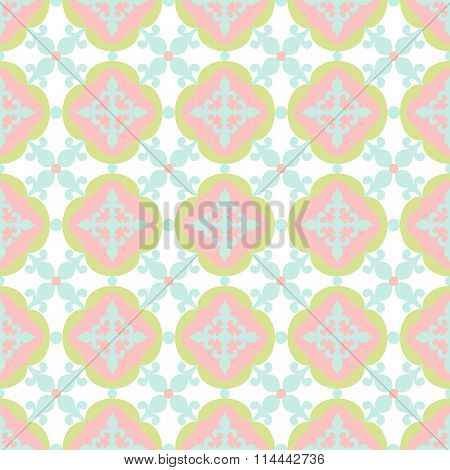 Seamless floral tile