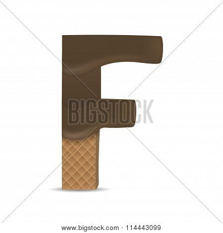 Wafer F letter
