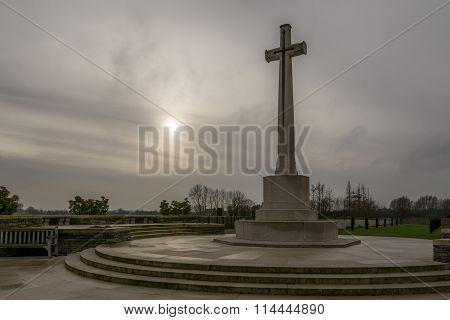 Memorial in Bedford House WW1 cemetery in Flanders, Belgium