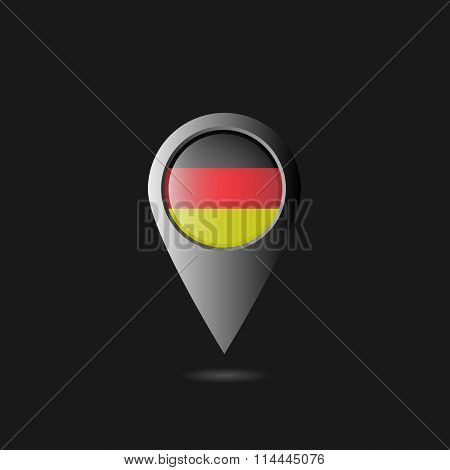 Germany flag pointer