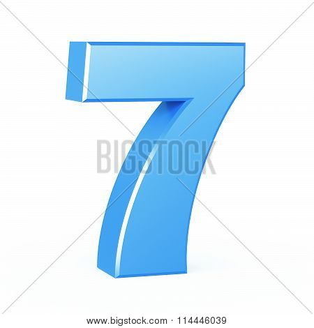 three-dimensional number in blue