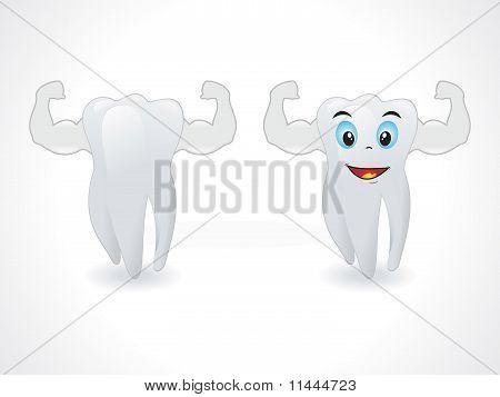 Abstract Smiley Teeth