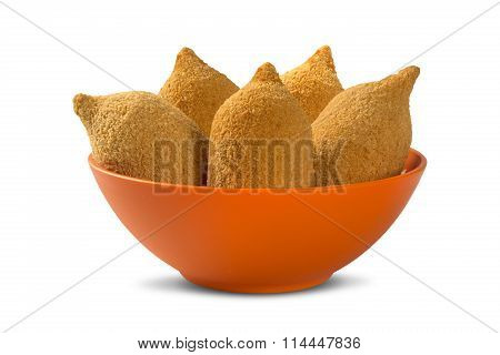 Brazilian Deep Fried Chicken Snack, Popular At Local Parties.