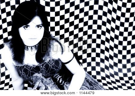 Goth 13 Year Old Teen Girl In Blue Tones