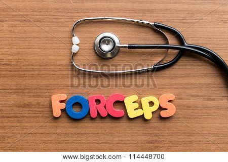 Forceps Colorful Word