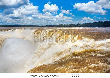 Devil's Throat At Iguazu Falls, Puerto Iguazu, Argentina