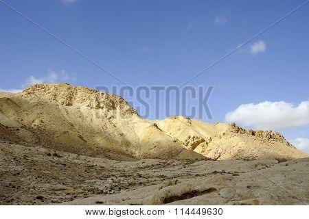 Morning Landscape In Desert Mountains, Jordan