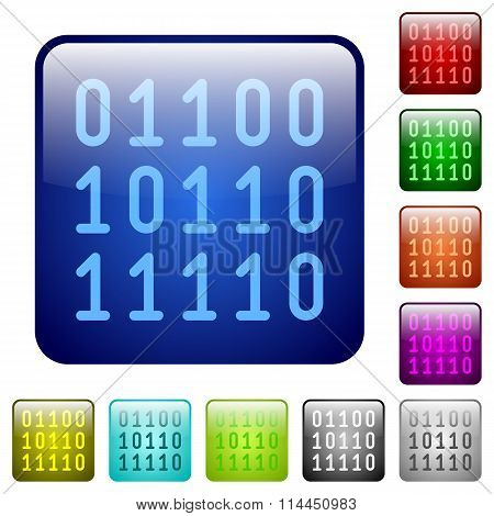 Color Binary Code Square Buttons
