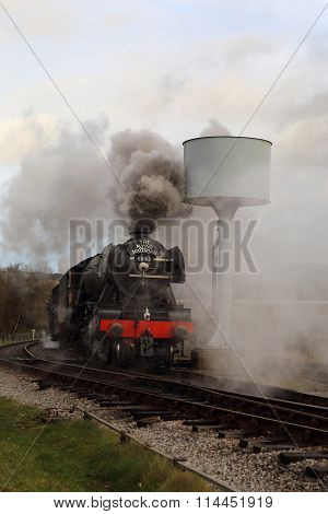 Flying Scotsman, smoking.