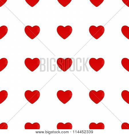 Red Hearts Seamless Tileable Pattern