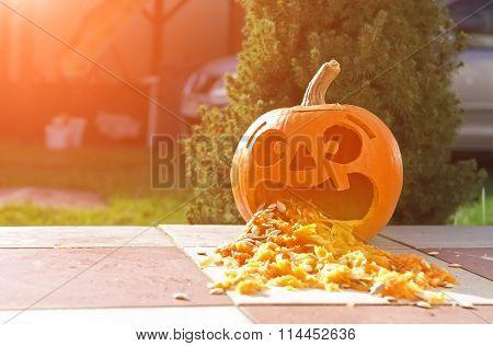 Funny Pumpkin Lantern