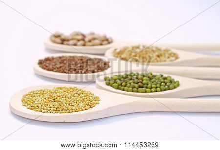Seeds On Wooden Spoon