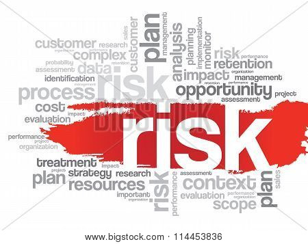 Word Cloud With Risk Related Tags