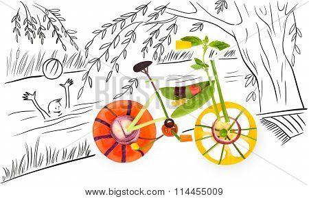 Summer And Bike.