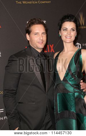 BEVERLY HILLS, CA - JAN. 10: Peter Facinelli and Jaime Alexanderi arrive at the Weinstein Company 2016 Golden Globes After Party, Jan 10, 2016 at the Beverly Hilton Hotel in Beverly Hills, CA.