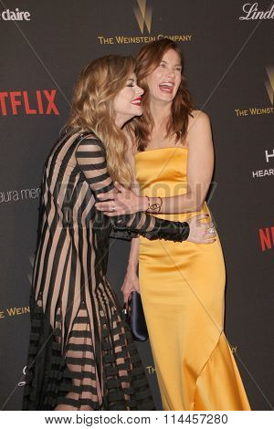 BEVERLY HILLS, CA - JAN. 10: Jamie King and Michelle Monaghan arrive at the Weinstein Company and Netflix 2016 Golden Globes After Party, Jan.10, 2016 at the Beverly Hilton Hotel, Beverly Hills, CA.