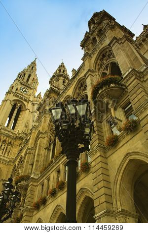 The Rathaus (town Hall) Is A Building In Vienna, Austria