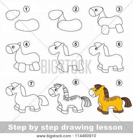 Drawing tutorial. How to draw a Horse