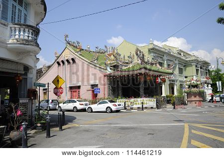 Chinese temple in Penang, Malaysia.